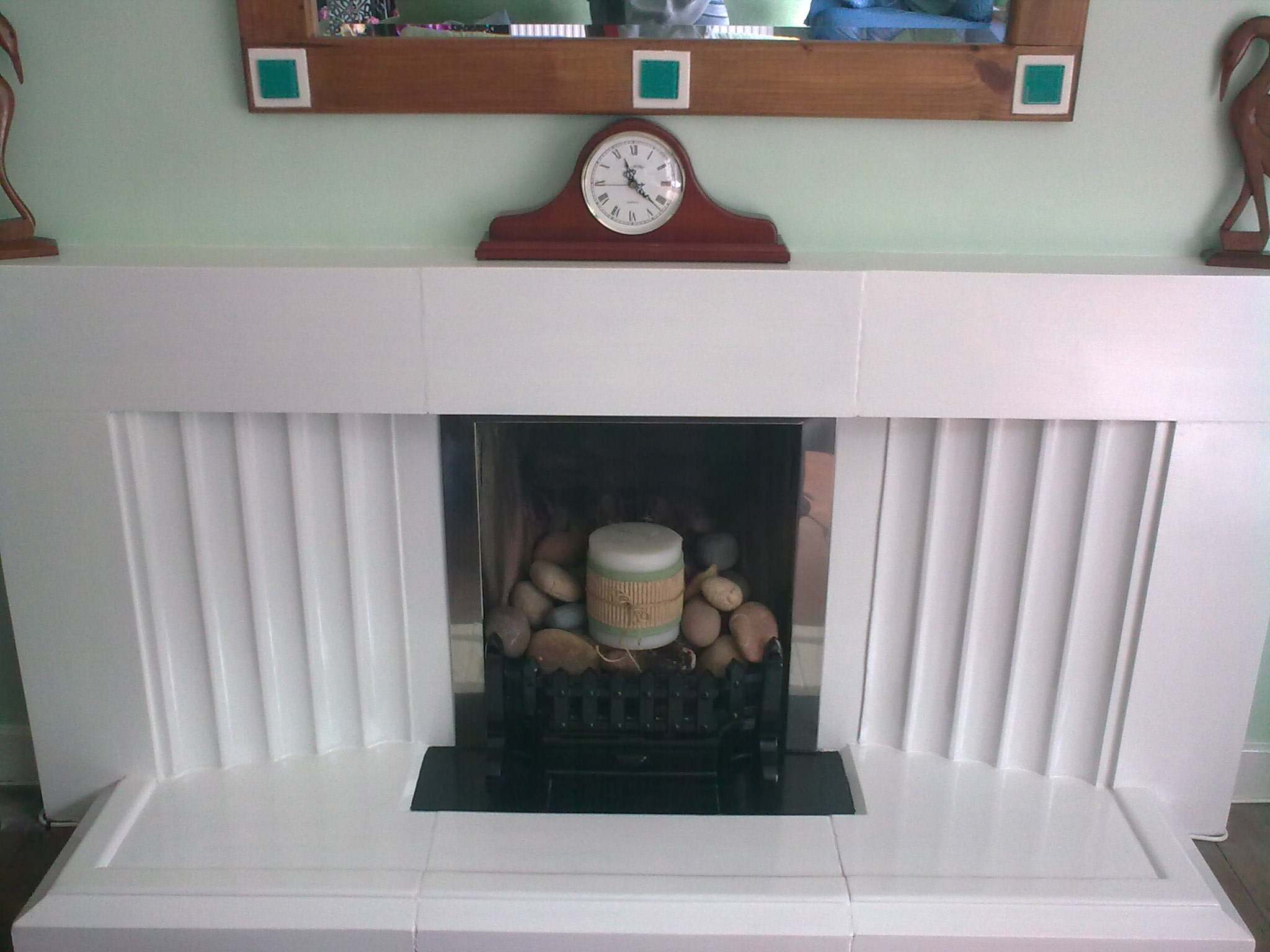 transform an ugly fireplace with paint diy projects